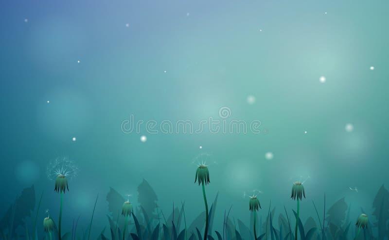 Мечта ночи лета иллюстрация вектора