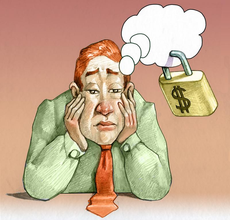 Мечты зависимые от иллюстрации денег схематической бесплатная иллюстрация