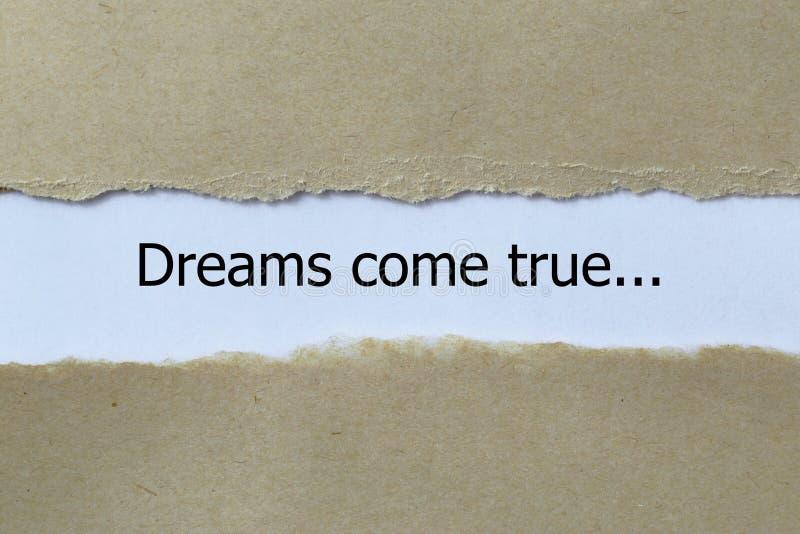 Мечты приходят истинный стоковое изображение