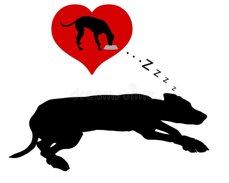 Мечты собаки подавать иллюстрация штока
