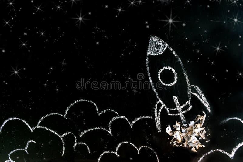 Мечт большие, высокие цели, startup концепция Милый вдохновляющий тип стоковые фотографии rf