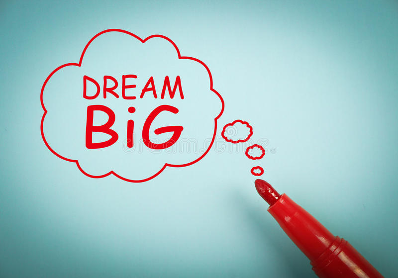 Мечт большой иллюстрация вектора