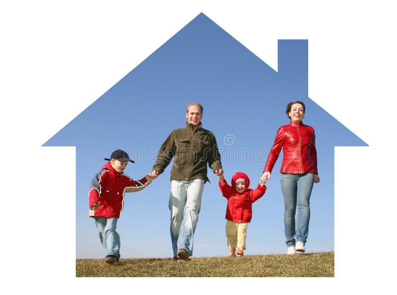 мечт дом семьи стоковые изображения
