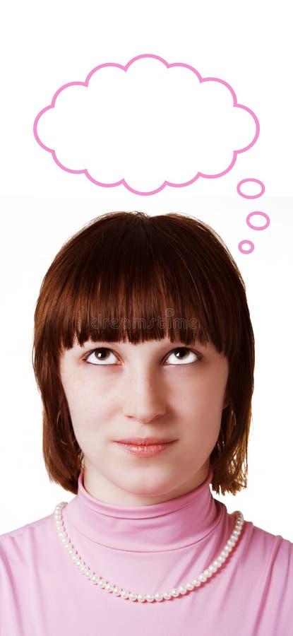 мечт женщина стоковое фото