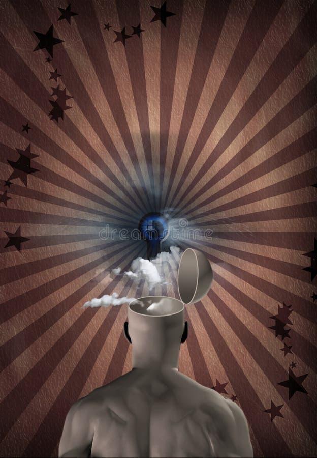 мечт зрение разума иллюстрация штока