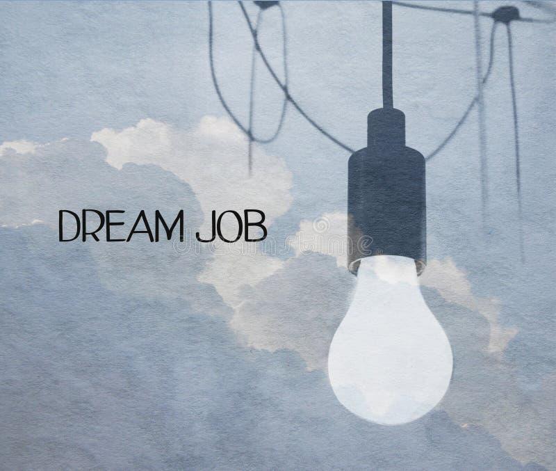 Мечт концепция работы стоковое изображение