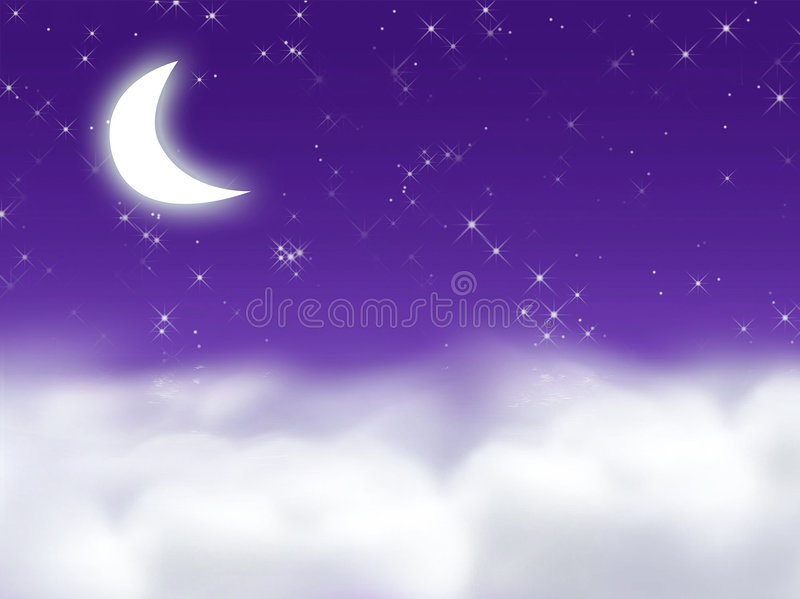 мечт полночь иллюстрация штока