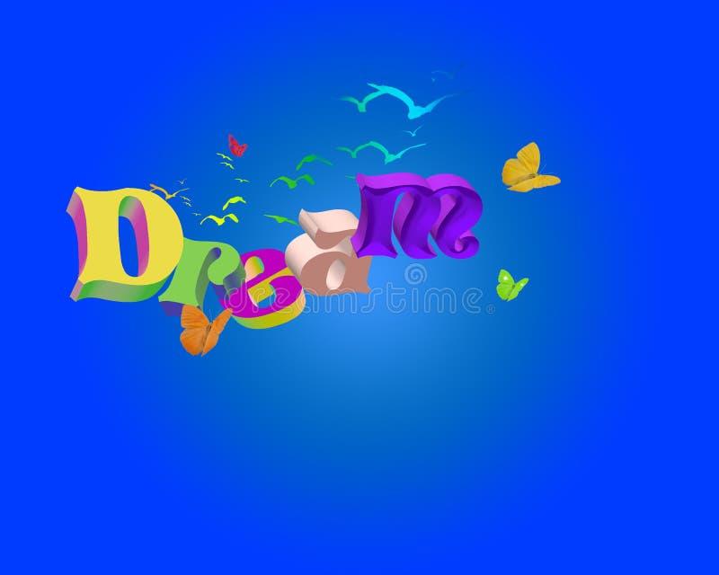 мечт слово 3d иллюстрация вектора