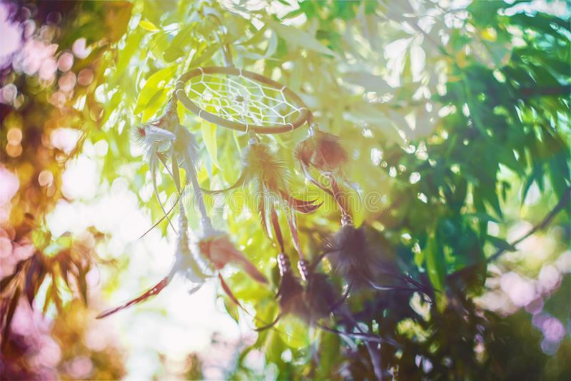 Мечт улавливатель в винтажном стиле стоковые фотографии rf