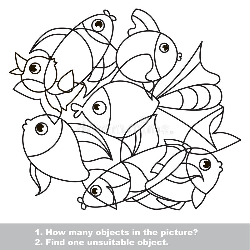 Мешанина рыб установленная в вектор бесплатная иллюстрация
