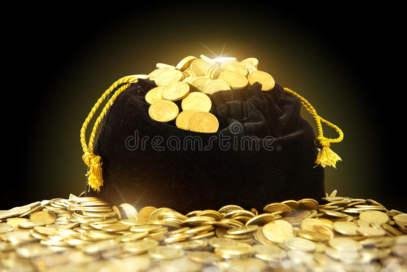 Мешок денег стоковая фотография rf