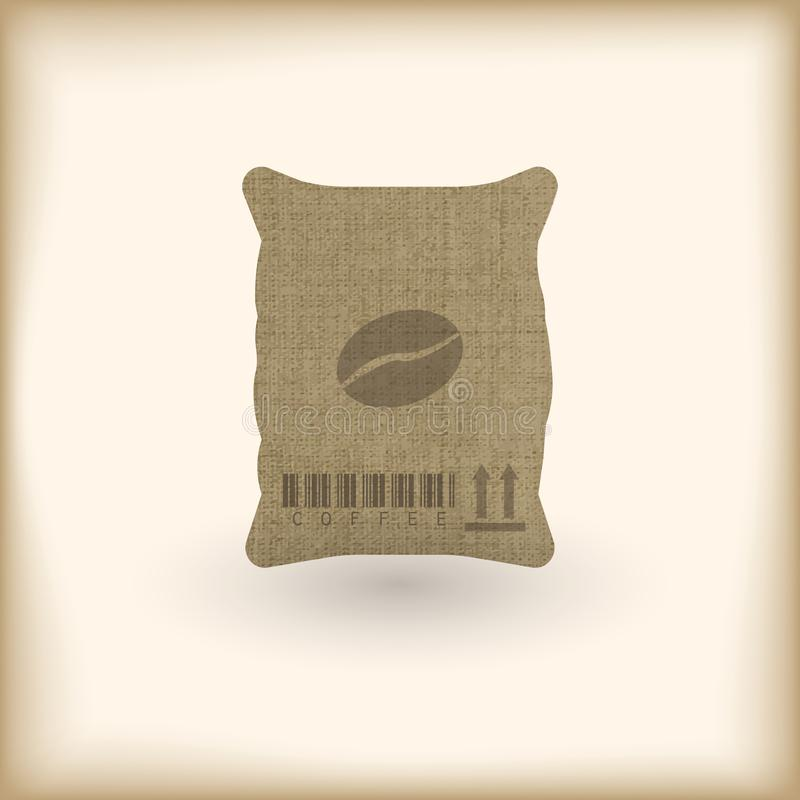 Мешок ткани кофе бесплатная иллюстрация
