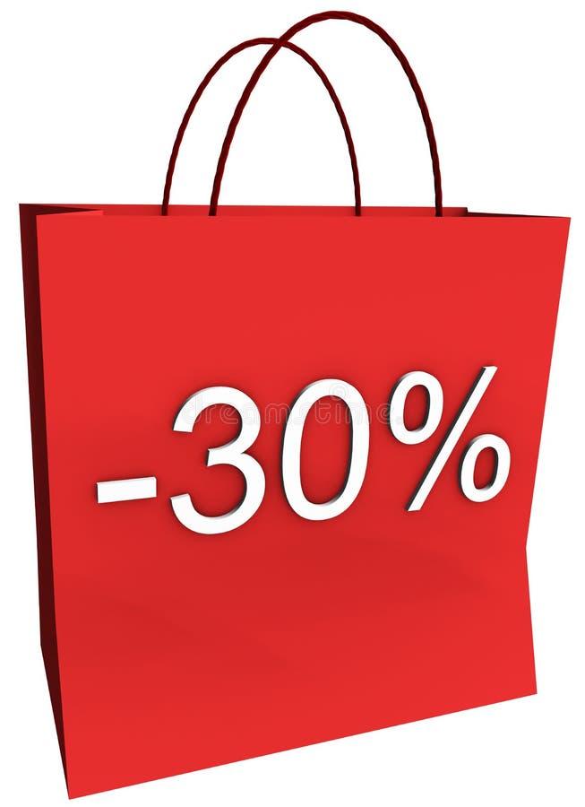 мешок 30 с покупкы процентов иллюстрация штока