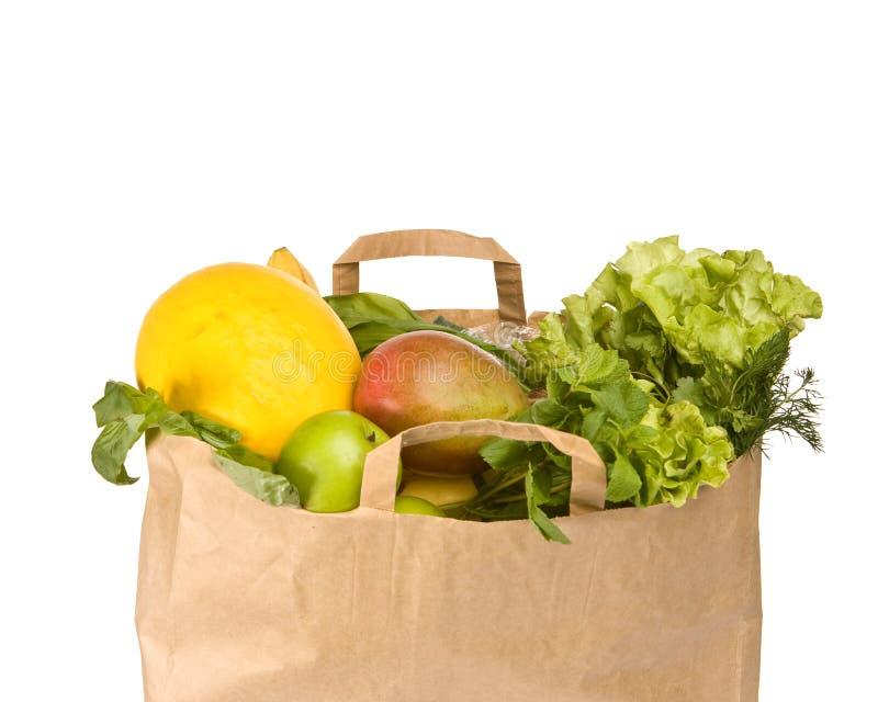 мешок fruits полная бакалея здоровая стоковые фотографии rf