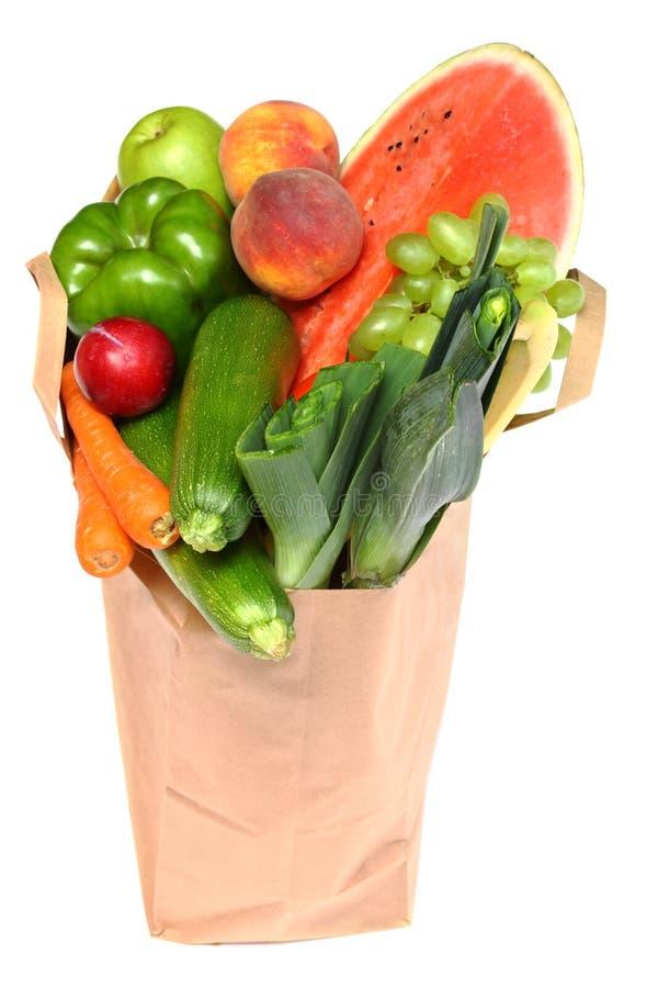 мешок fruits польностью здоровые овощи стоковое изображение