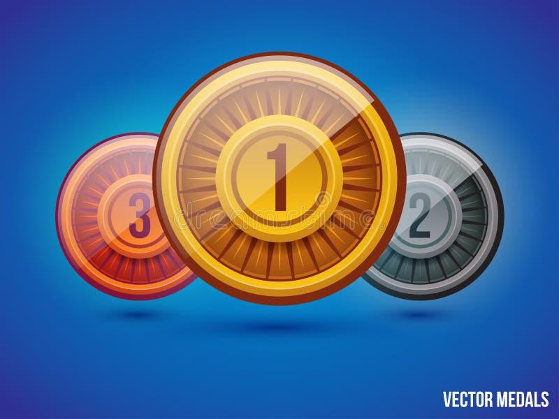 Медали вектора иллюстрация вектора