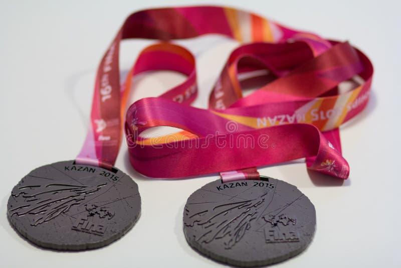 Медали Fina Казань 2015 спорта стоковое фото