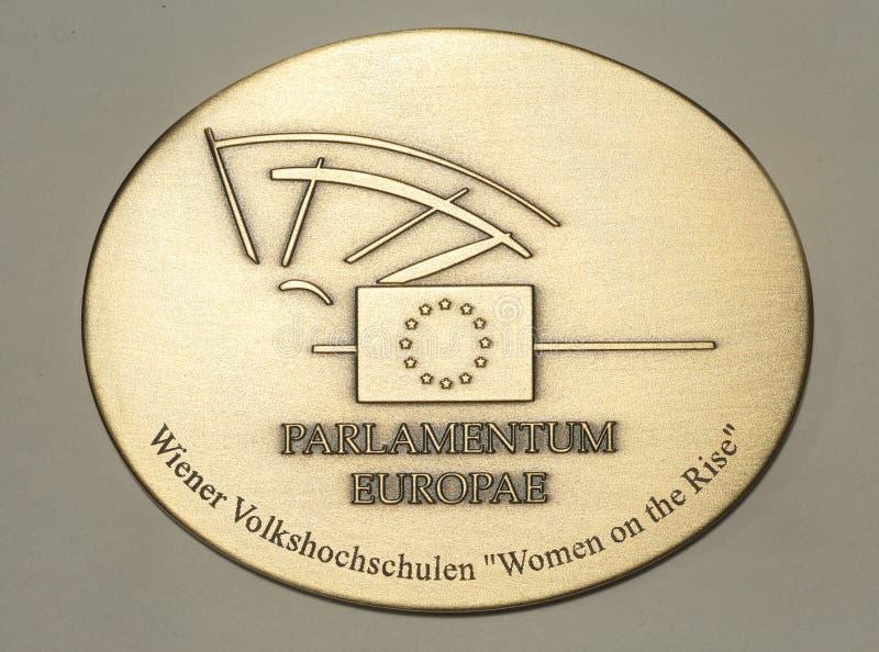 Медаль Европейского парламента стоковая фотография