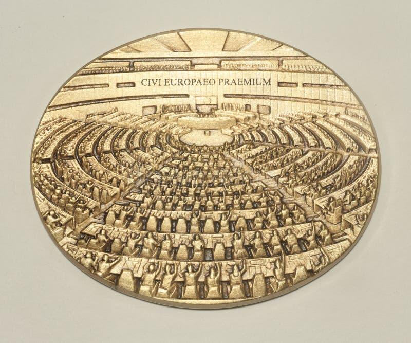Медаль Европейского парламента стоковое изображение rf