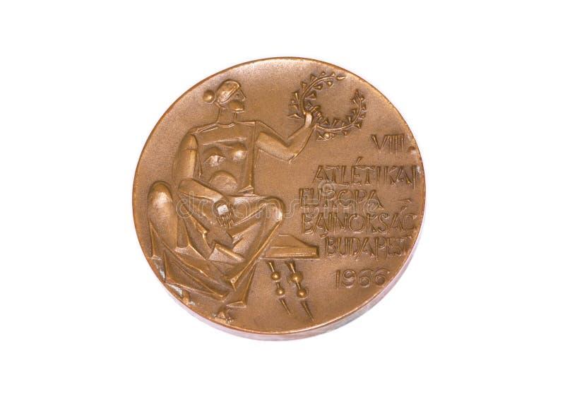 Медаль 1966 европейское, obverse участия чемпионатов атлетики Будапешта Kouvola, Финляндия 06 09 2016 стоковое изображение