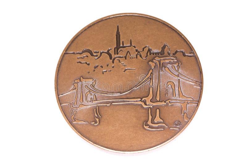 Медаль 1998 участия чемпионатов атлетики Будапешта европейское, обратное Kouvola, Финляндия 06 09 2016 стоковое изображение rf