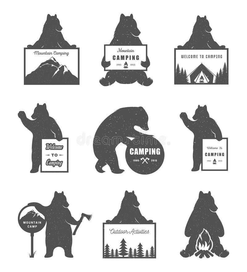 Медведи комплекта вектора иллюстрация штока