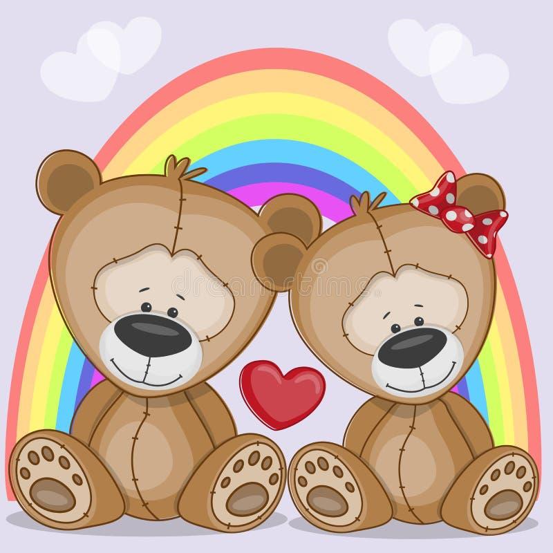 Медведи любовников иллюстрация штока
