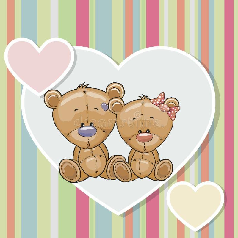 медведи 2 иллюстрация вектора