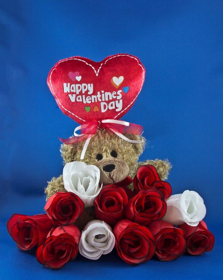 Медведь 1 валентинки стоковое изображение rf