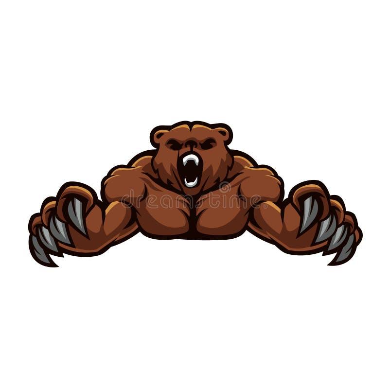 Медведь вектора сердитый иллюстрация штока