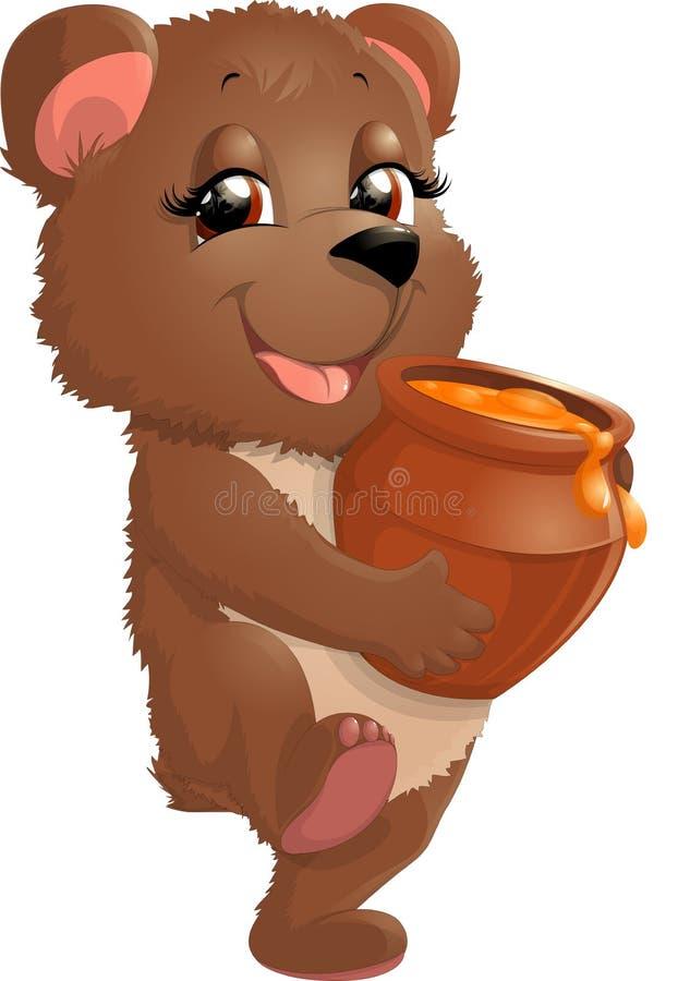 Медведь в красивом представлении иллюстрация вектора