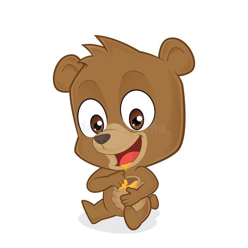 Медведь есть мед иллюстрация вектора