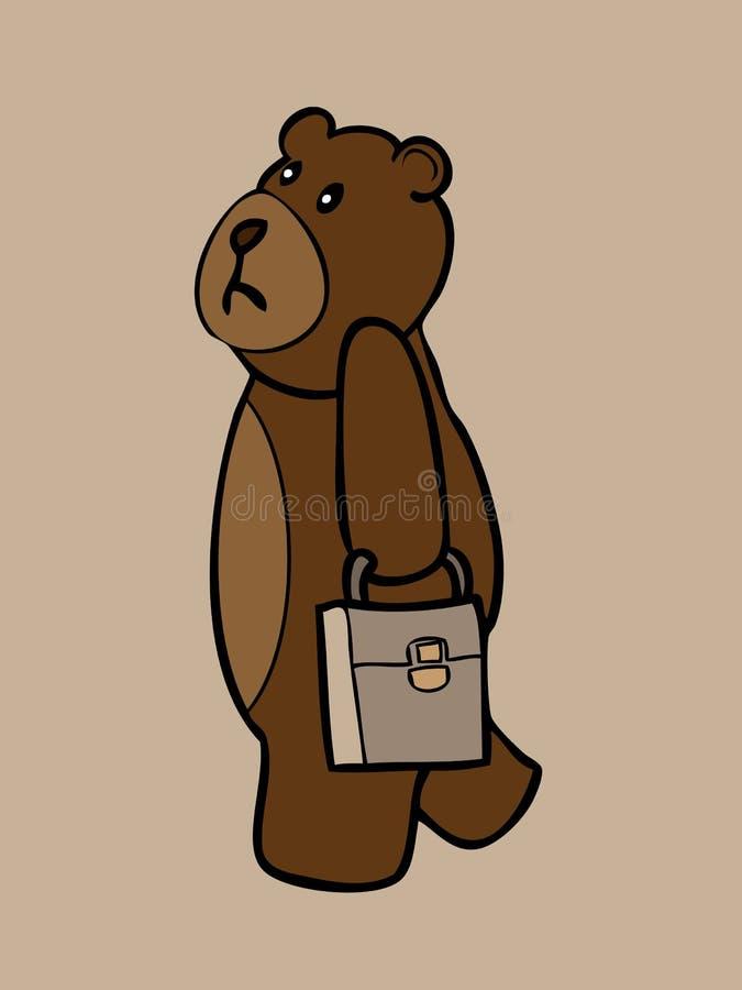 Download Медведь дела держа портфель Иллюстрация вектора - иллюстрации насчитывающей дело, шерсть: 40590940