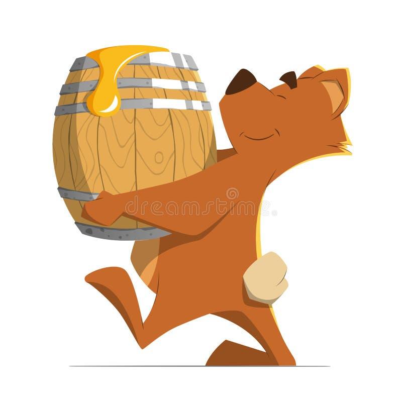 Медведь и мед иллюстрация штока