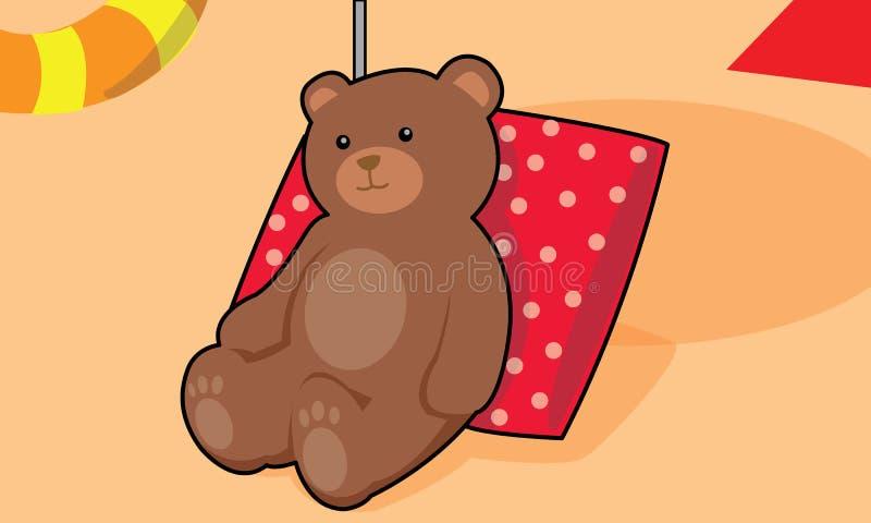 Медведь на пляже стоковая фотография