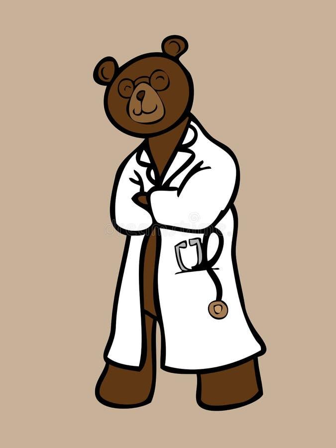 Download Медведь доктора с стетоскопом Иллюстрация вектора - иллюстрации насчитывающей ребенок, шерсть: 40590943