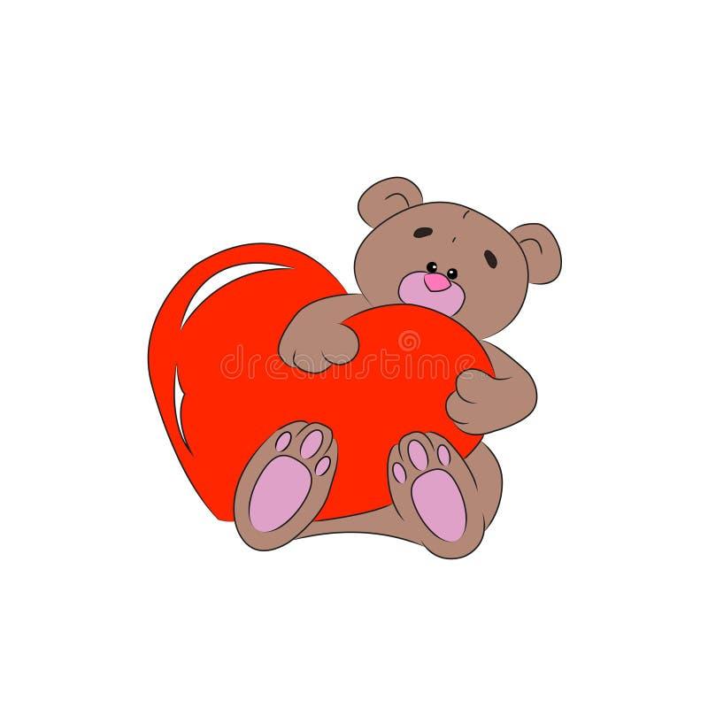 Медведь с сердцем стоковое изображение rf