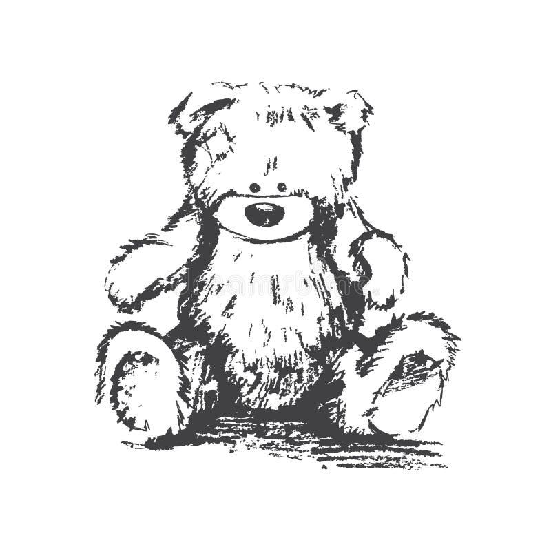 Медведь угля вектора иллюстрация штока