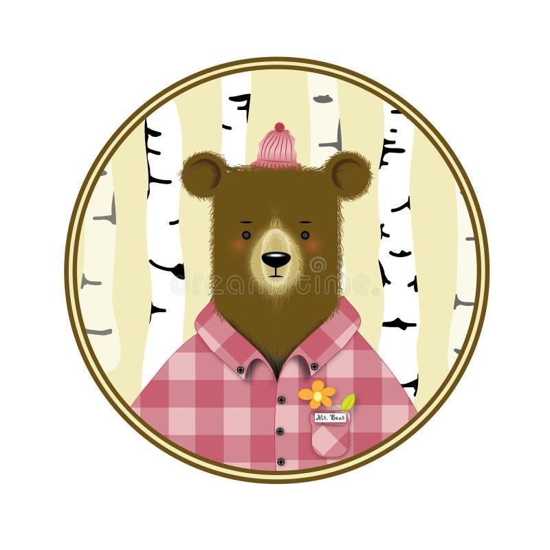 Медведь шаржа стоковое изображение