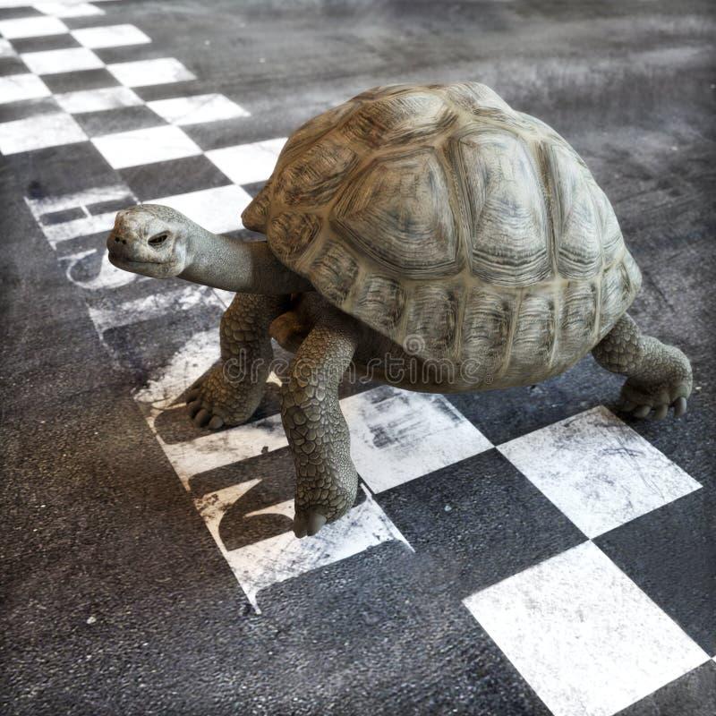 Медленный и прочно выигрывает гонку бесплатная иллюстрация