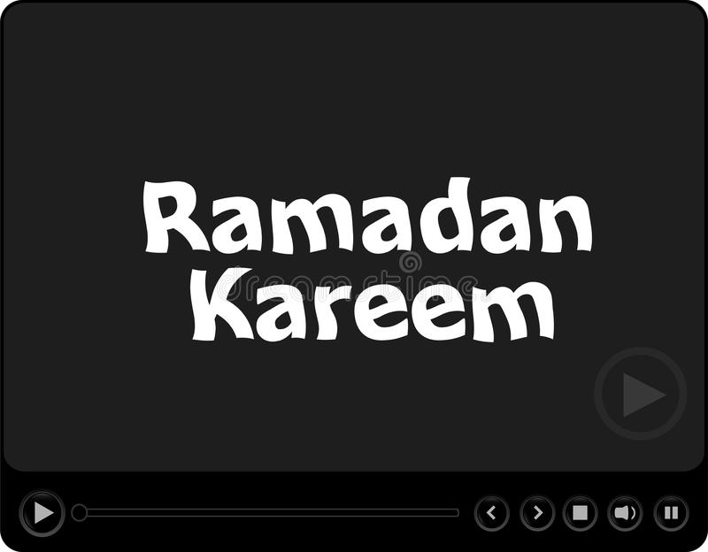 Медиа-проигрыватель с словом kareem ramadan на ем бесплатная иллюстрация