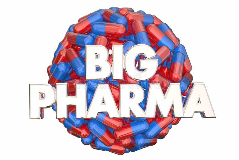 Медицина пилюлек силы большой индустрии Pharma лоббируя иллюстрация вектора