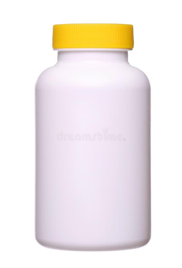 медицинская бутылка пилюльки изолированная на белой предпосылке стоковая фотография