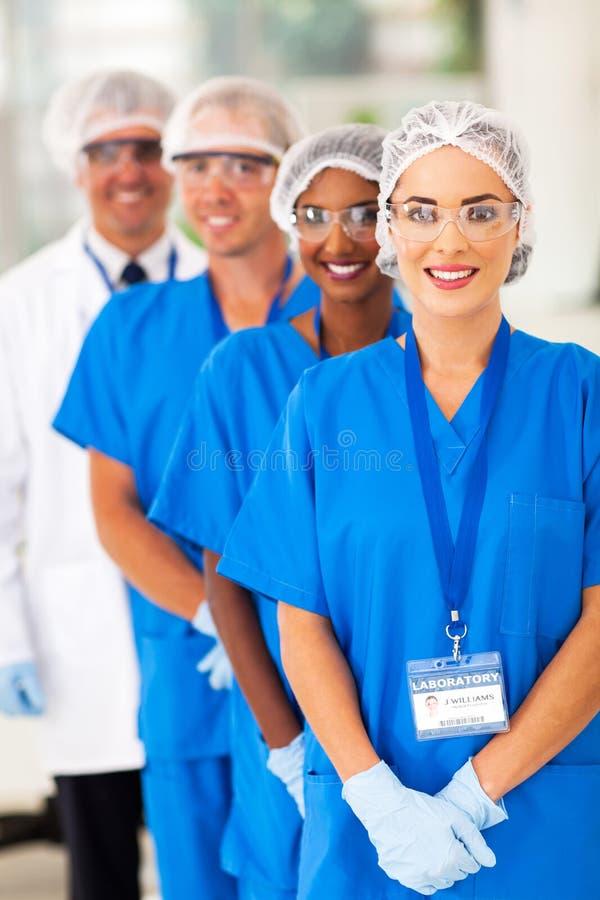 Медицинская команда исследователей стоковое фото