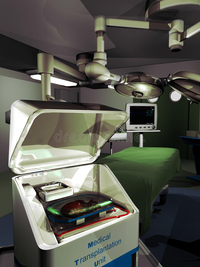 Медицинская трансплантация иллюстрация штока