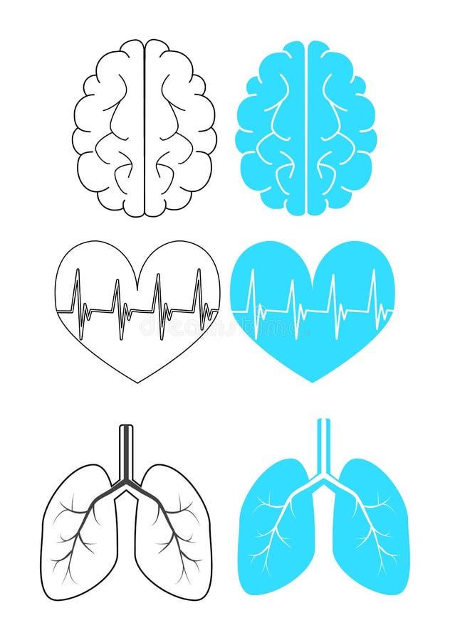Медицинские значки для сети стоковое фото
