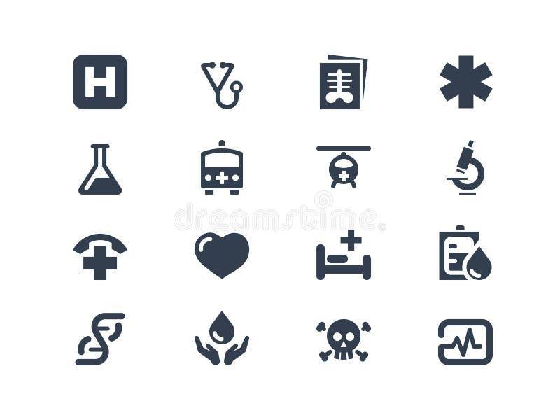 Медицинские значки иллюстрация вектора