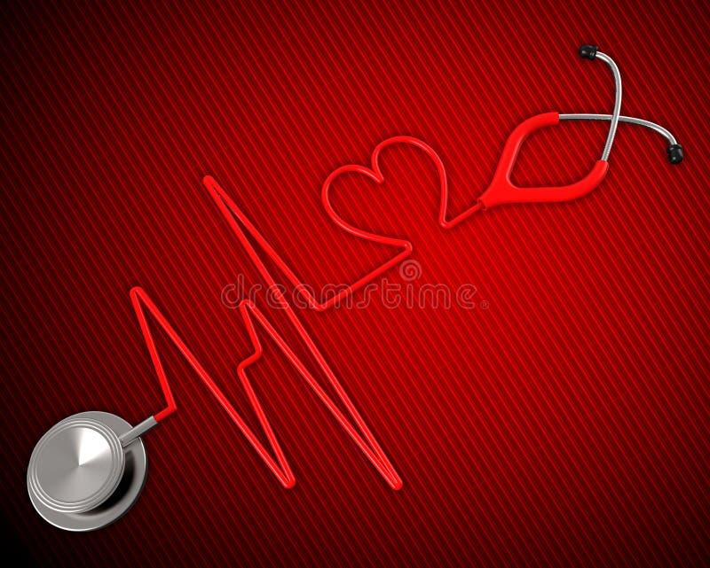 Медицинские здоровье показывают профилактическую медицину и сердечное иллюстрация штока