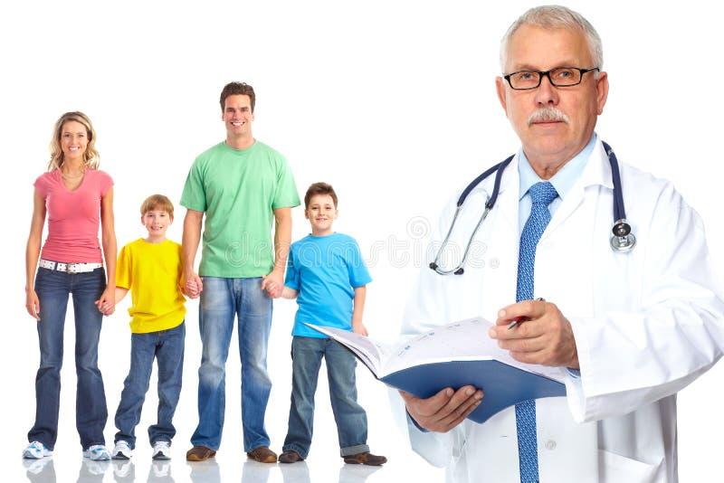 Медицинские семейный врач и пациенты стоковые изображения rf