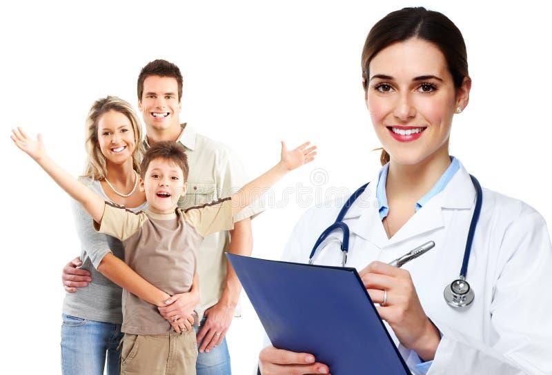 Медицинские семейный врач и пациенты стоковые изображения